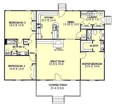 ranch style house floor plans ranch style house plan 3 beds 2 baths 1700 sq ft plan 44 104