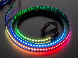 adafruit neopixel digital rgb led strip 144 led 1m black black