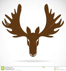 vector image of an deer head stock image image 31587091