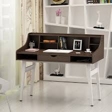 Computer Secretary Desk With Hutch by Songmics Writing Desk Computer Workstations Board And Stable Steel