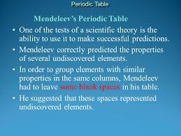 what ability did the periodic table have mendeleev s periodic table this arrangement was the forerunner of