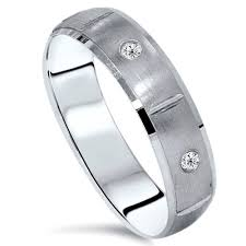 mens white gold diamond wedding bands mens white gold diamond wedding ring solid 14kt band 6 mm wide