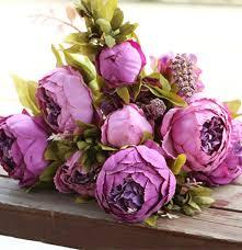 artificial peonies 8 heads bunch 47cm 18 5 artificial peony flower peonies