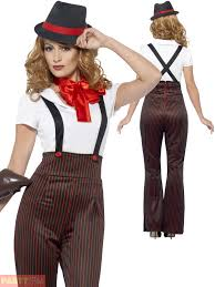 Halloween Gangster Costume Ladies Glam Gangster Costume Adults 1920s Moll Fancy Dress Womens