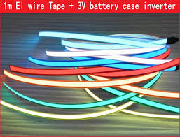 waterproof led ribbon lights 1m 3v flexible led tape neon light glow el wire cable