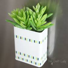 diy magnetic succulent planter the crazy craft lady
