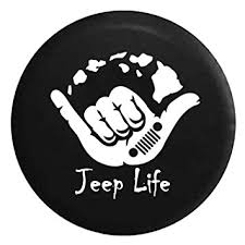 jeep life tire cover amazon com jeep life hawaiian island shaka surfing spare jeep