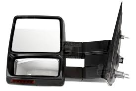 Ford Classic Truck Mirrors - 2007 2014 f150 tow mirrors with puddle lights black textured
