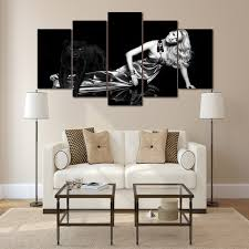 femme chambre hd imprimé 5 pcs noir blanc photo femme chambre décoration