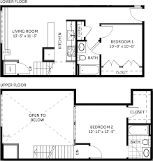 two bedroom townhouse floor plan metal building 2 bedroom miller lofts at plant zero