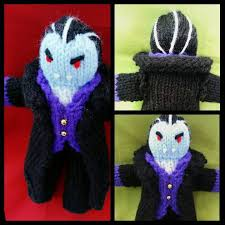 dracula vampire knitting pattern monster collection great for