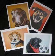 prints cards more pets painted by dina