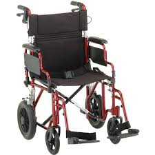 nova ortho med deluxe lightweight transport chair transport