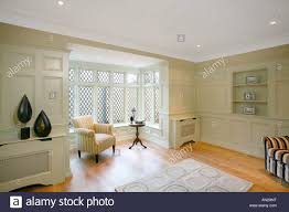 panelled walls study with panelled walls and bay window stock photo 15391187 alamy