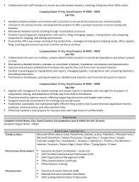 Sharepoint Resume Examples by Executive Assistant Resume Example And 5 Tips To Writing One Zipjob