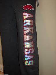 arkansas razorbacks fleece pants pick your size new with tags