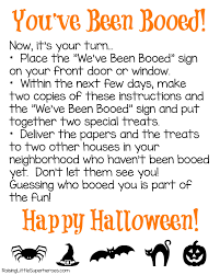 you u0027ve been booed a family fun halloween activity