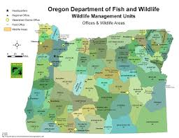 Oregon Map Us by Odfw Hunting Big Game Unit Maps