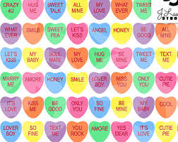 heart candy sayings conversation hearts etsy