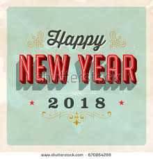 happy new year card vintage vector 2018 happy new year stock vector 670864288