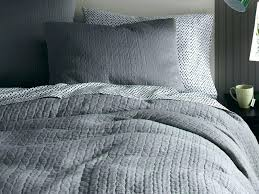 gray bedding west elm throughout grey textured duvet cover designs