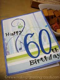 60th birthday card handmade birthday greeting card for him