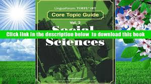 read online linguaforum toefl ibt core topic guide vol 2 social