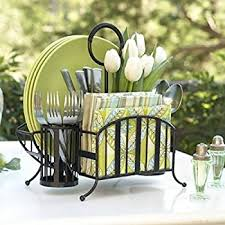 Silverware Caddy For Buffet by Amazon Com Buffet Utensils Caddy Durable U0026 Easy To Serve Black