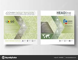 business templates square design brochure or flyer leaflet cover
