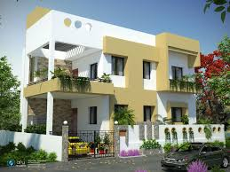 Home Design Exterior Color Schemes Indian Residential Building Designs Apartment Elev Interior