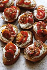 za u0027atar roasted tomato cristini with labneh camille styles