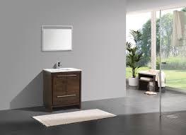 30 Inch Modern Bathroom Vanity Kubebath Dolce 30 Inch Rose Wood Modern Bathroom Vanity