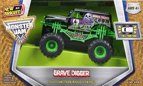 grave digger monster truck rc amazon com new bright f f 4x4 monster jam mini grave digger rc