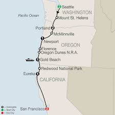 Gold Beach Oregon Map by National Parks Tour America Vacation Packages Usa Globus