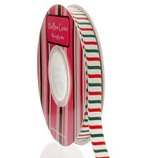 3 8 stripe grosgrain ribbon