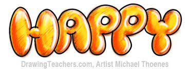 letters happy in style graffiti letters