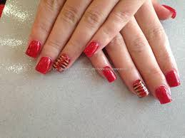 acrylic nails a kiss in paris red gel polish purrfect nails