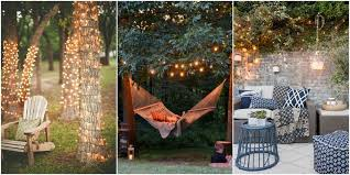 Outdoor Backyard Lighting 20 Backyard Lighting Ideas How To Hang Outdoor String Lights