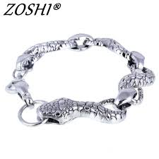men charm bracelet images Top quality men bracelet bangle 316l stainless steel snake jewelry jpg