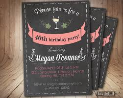 18 Birthday Invitation Card 40th Birthday Invitation Birthday Invitation On