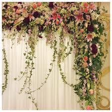 wedding backdrop birmingham l shaped stage backdrop with flowy woodland blooms wedding