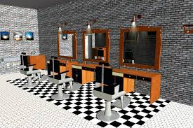 Small Hair Salon Modern White Barber Shop Design Ideas