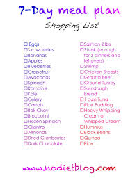7 day weight loss meal plan with grocery list lose weight fast