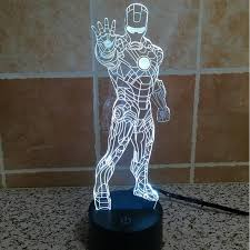 aliexpress com buy holiday lamp colorful led lamp stand iron man