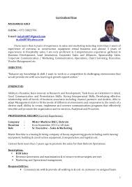 sales and marketing resume cv sr executive sales marketing