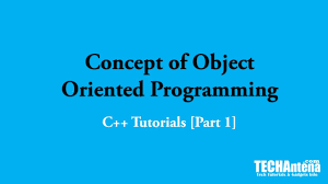 What Is Concept by Basic Concept Of Object Oriented Programming C Tutorials 1