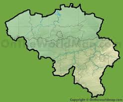 physical map of belgium belgium physical map
