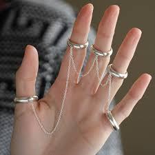 finger chain rings images Five finger chain ring midi rings womens chain link ring jpg