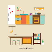 furniture in the kitchen kitchen furniture vector free