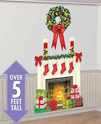 Fireplace Wall Decor by Amazon Com Chsgjy New Holiday Hearth Scene Setter Christmas Party